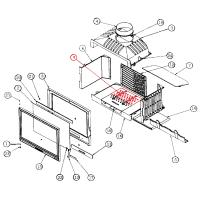 ruszt tył - starsza wersja do wkładu kominkowego Godin 660101