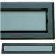 kratka wentylacyjna szczelinowa zamykana z szybką OTI 60 czarna-grafit*