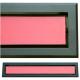 kratka wentylacyjna szczelinowa zamykana z szybką OTI 60 czarna-czerwona