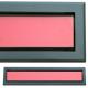 kratka wentylacyjna szczelinowa zamykana z szybką OTI 60 grafit-czerwona