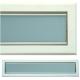 kratka wentylacyjna szczelinowa zamykana z szybką OTI 60 biała-grafit