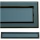 kratka wentylacyjna szczelinowa zamykana z szybką OTI 80 czarna-czarna