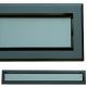 kratka wentylacyjna szczelinowa zamykana z szybką OTI 80 czarna-grafit