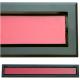 kratka wentylacyjna szczelinowa zamykana z szybką OTI 80 czarna-czerwona