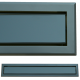 kratka wentylacyjna szczelinowa zamykana z szybką OTI 80 grafit-czarna