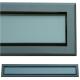 kratka wentylacyjna szczelinowa zamykana z szybką OTI 80 grafit-grafit