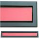 kratka wentylacyjna szczelinowa zamykana z szybką OTI 80 grafit-czerwona