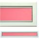 kratka wentylacyjna szczelinowa zamykana z szybką OTI 80 biała-czerwona