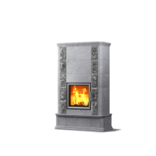 kominek akumulacyjny piec ze steatytu dwustronny TULIKIVI AKKO 1800 2D NATURAL