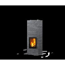 kominek akumulacyjny piec ze steatytu dwustronny TULIKIVI KOLI S 1800 2D GRAFIA