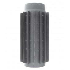 rura dymowa czarna 2 mm - radiator 0,5 metra - fi 150