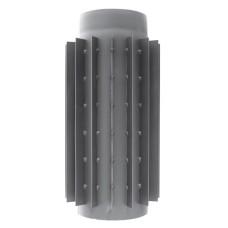 rura dymowa czarna 2 mm - radiator 0,5 metra - fi 200