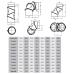 rura dymowa czarna 2 mm - kolano regulowane uni 4 segmentowe z wyczystką - fi180
