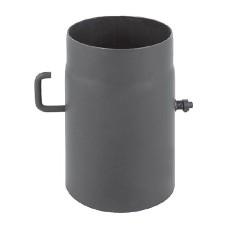 rura dymowa czarna 2 mm - szyber krótki - fi 250
