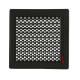 kratka wentylacyjna do kominka TREND 220x220 z żaluzją