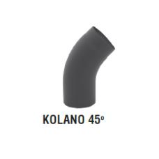 rura dymowa czarna 2 mm - kolano gięte 45 stopni - fi 150