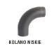 rura dymowa czarna 2 mm - kolano niskie - fi 150