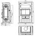 piec wolnostojący kaflowy Godin Chamonix XXL 350104 bordowy połysk