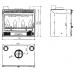 wkład kominkowy Godin z wentylatorami fasada wypukła 3258 10,5 kW