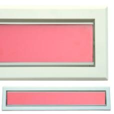 kratka wentylacyjna szczelinowa zamykana z szybką OTI 60 biała-czerwona