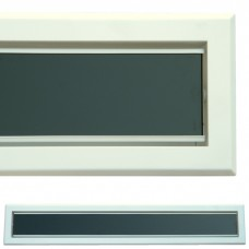 kratka wentylacyjna szczelinowa zamykana z szybką OTI 80 biała-czarna