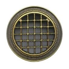 kratka wentylacyjna okrągła do kominka rozeta k18-r150 mosiądz