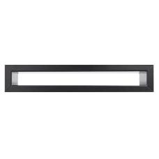 kratka wentylacyjna do kominka tunel 6 x 40 czarny