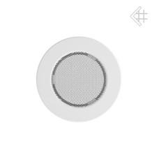 kratka wentylacyjna do kominka okrągła 100 mm biała