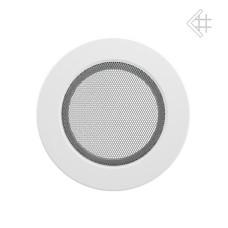 kratka wentylacyjna do kominka okrągła 125 mm biała