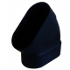 kolano pionowe 45 stopni czarne Slimline