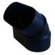 kolano poziome 45 stopni nyplowe czarne Slimline