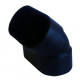 kolano poziome 45 stopni czarne Slimline