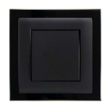gniazdo tworzywowe z ramką plastikową ASKO Plus czarne