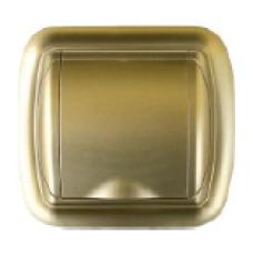 gniazdo tworzywowe UNO złote