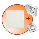 gniazdo tworzywowe komplet z płytką montażową i zaślepką ECO STND kwadrat białe