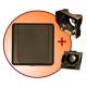 gniazdo tworzywowe komplet z płytką montażową i zaślepką ECO STND kwadrat brązowe