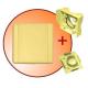 gniazdo tworzywowe komplet z płytką montażową i zaślepką ECO STND kwadrat kremowe