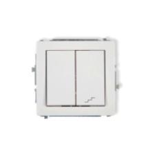 elektryczny włącznik światła podwójny biały