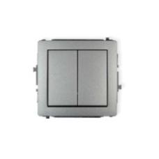 elektryczny włącznik światła podwójny srebrny
