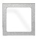 ramka maskująca plastikowa do gniazd ASKO srebrna