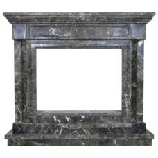 kominek marmurowy portal kominkowy Chicago marmur Emperador