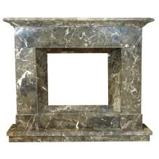 kominek marmurowy portal kominkowy Jersey marmur emperador