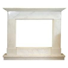 kominek marmurowy portal kominkowy Jersey biały marmur