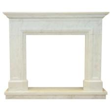 kominek marmurowy portal kominkowy Lancaster biały marmur