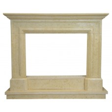 kominek marmurowy portal kominkowy Lancaster marmur jerusalem gold