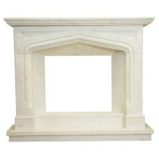 kominek marmurowy portal kominkowy Liverpool biały marmur