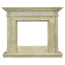 kominek marmurowy portal kominkowy Memphis marmur crema marfil