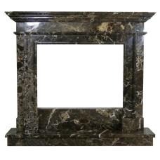 kominek marmurowy portal kominkowy Memphis marmur emperador gold