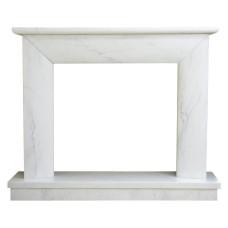 kominek marmurowy portal kominkowy Modena biały marmur