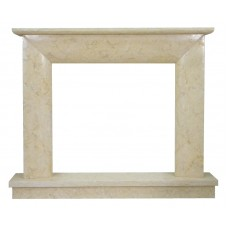 kominek marmurowy portal kominkowy Modena marmur jerusalem gold